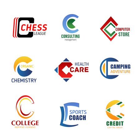 Vector letter C icons for corporate identity