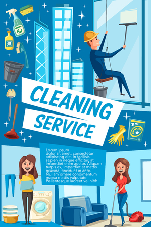 Vector poster for house cleaning service