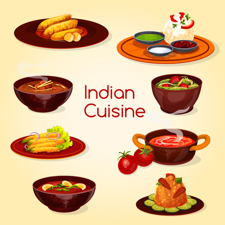 Indian cuisine food, thali dish and desserts