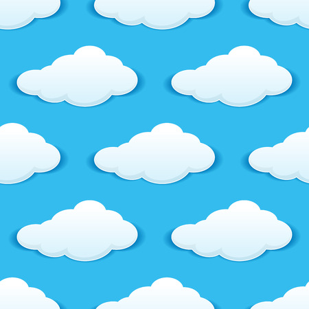 Cloudy sky seamless pattern for weather, background or another design