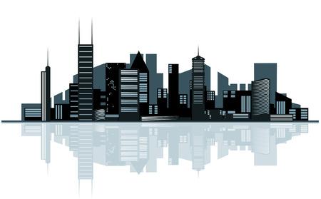 Modernes Stadtbild für Design als Geschäftskonzept
