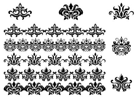 Flower patterns and borders for design and ornate Stock Vector - 106199151
