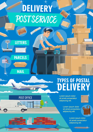 Post Mail Service Postage Office Poster Post Shipping