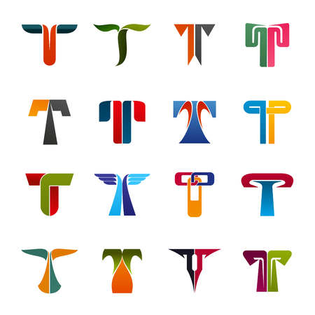 Letter T brand identity or company corporate design. Vector geometric and abstract T. Engineering, sport or commerce business and ecology, travel or construction and education art industry