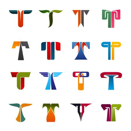 Identité de marque lettre T ou design d'entreprise. Vecteur géométrique et abstrait T.Ingénierie, sport ou commerce entreprise et écologie, voyage ou construction et industrie de l'art de l'éducation