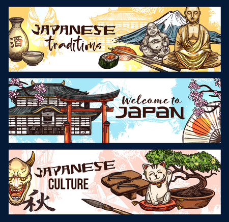 Japanese religion and culture symbols, welcome to travel