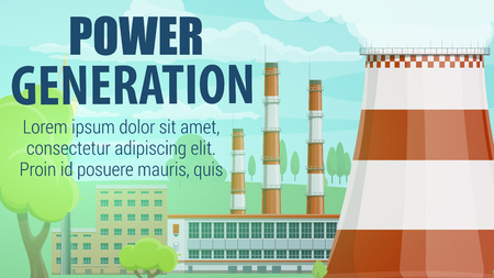 Thermal power station for production and generation electrical energy or electricity.