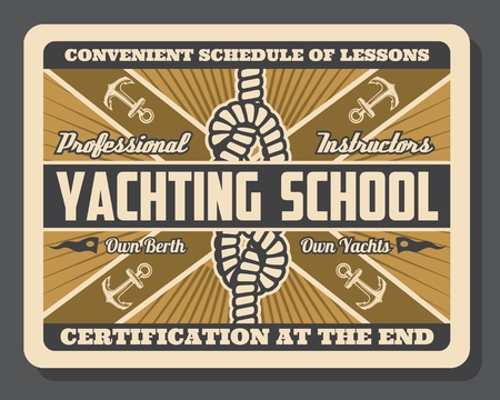Nautical yacht school of sailing and yachting sport club.