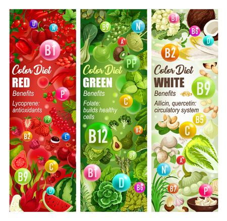 Vitamin food of healthy color diet