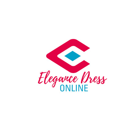 Letter E icon for online fashion shop or premium boutique and luxury store. Vector elegance dress symbol of letter E for brand shopping mall sale or discount outlet design