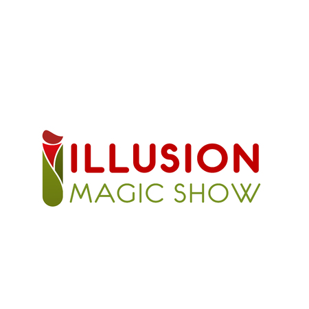 Letter I icon for illusion magic show or illusionist equipment and tools store. Vector letter I of magic wand for circus or fun entertainment and circus trick event organization company