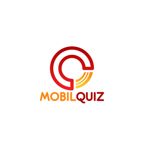 Q letter icon for mobile quiz for education application design. Vector line symbol of letter Q for entertainment web project or online smartphone or digital portal site