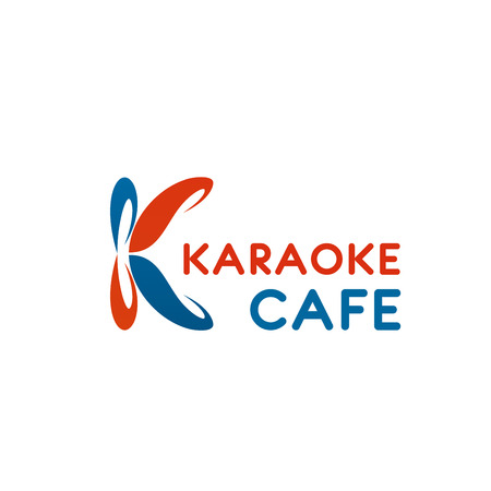 Letter K icon for karaoke cafe or singing entertainment even of restaurant. Vector isolated K letter for music school and singing education classes or recording and karaoke production company