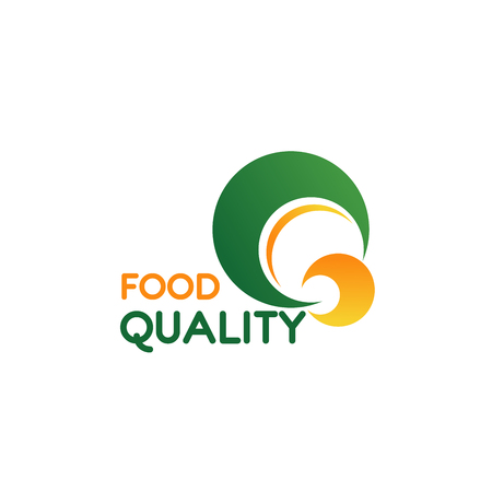 Letter Q icon for food quality sign and farm organic bio food production. Vector green and yellow symbol of letter Q for healthy nutrition company corporate identity or farm market design