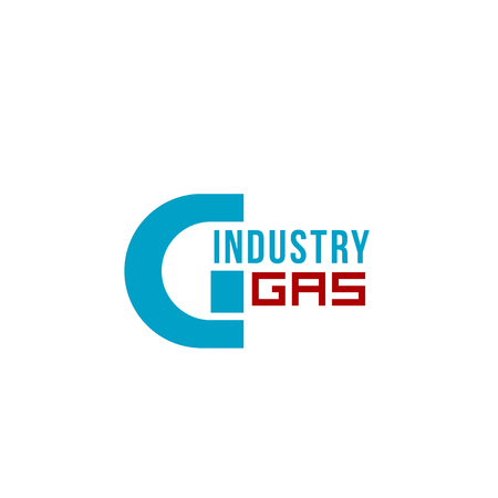 Letter G icon for gas and oil industry or energy power plant and factory design. Vector geometric industrial symbol of letter G for petroleum and heavy industry corporation corporate identity