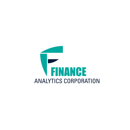 Finance analytics corporation vector icon isolated on a white background. Concept of income increase, investment. Finance analytics corporation vector icon isolated on a white background. Иллюстрация