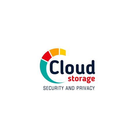 Cloud storage security and privacy vector icon isolated on a white background. Web cloud technology concept, data protection. Concept of system privacy and information safety