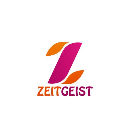 Letter Z icon for social network or information web portal and media application design. Vector letter Z of ZeitGeist flat symbol for digital communication and innovation multimedia concept Illustration