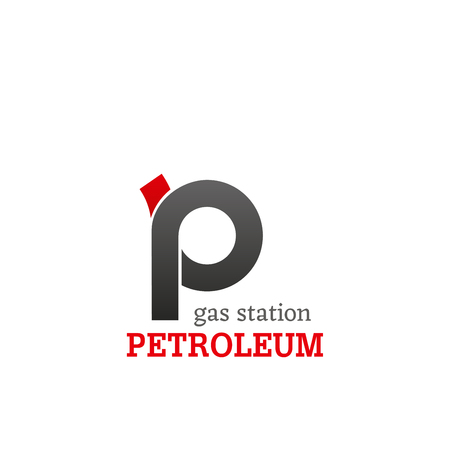 Gas station petroleum vector sign isolated on a white background. Concept of filling up fuel into the car. Refueling a car vector badge, fuel industry and energy concept Stock Illustratie