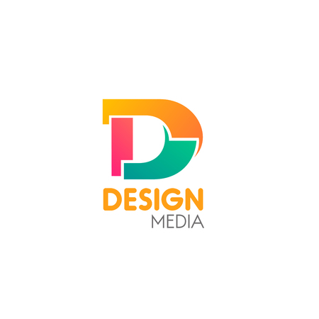 Design media colorful vector icon isolated on a white background. Vector emblem concept of social talk or social media. Creative vector design for branding of media company