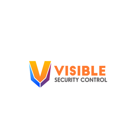 Visible security control vector icon isolated on white background. Concept of home and office security, webcam control. Concept of protection and safety, equipment for security company