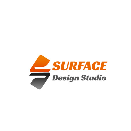 Surface design studio vector sign isolated on a white background. Concept of new design, interface developing and modern technologies. Vector design for corporate identity of creative business company Çizim
