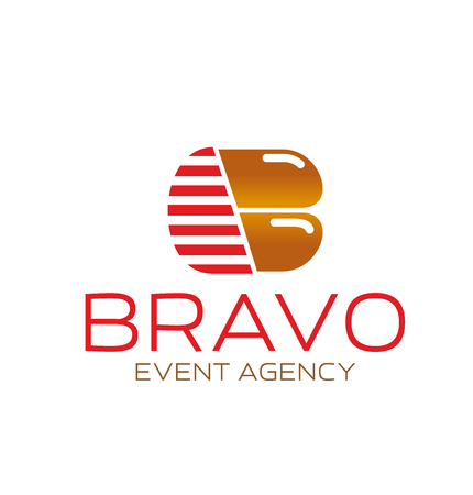 Event agency B letter icon Bravo marketing company or entertainment advertising organization. Vector letter B symbol for event promotion and marketing consulting or business development