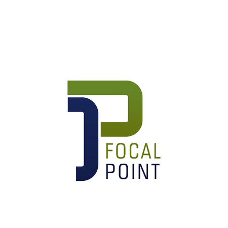 P letter icon for industrial technology or medical and construction company. Vector abstract letter P focal point for pharmacy medicine or building and engineering brand or digital internet industry 版權商用圖片 - 114520026