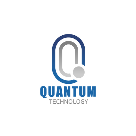 Quantum technology Q letter icon for digital and smart electronic devices production or hi-tech physics research company. Vector isolated letter Q for innovation technology appliances development Standard-Bild - 114520042