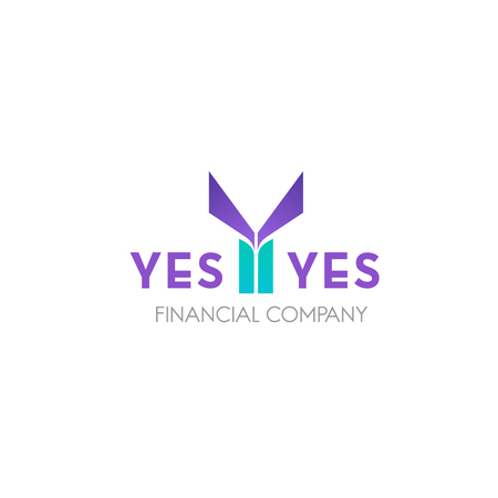 Financial company vector icon. Creative vector badge, research and consulting concept. Modern eye-catching emblem for finance and business organization isolated on white background Illustration