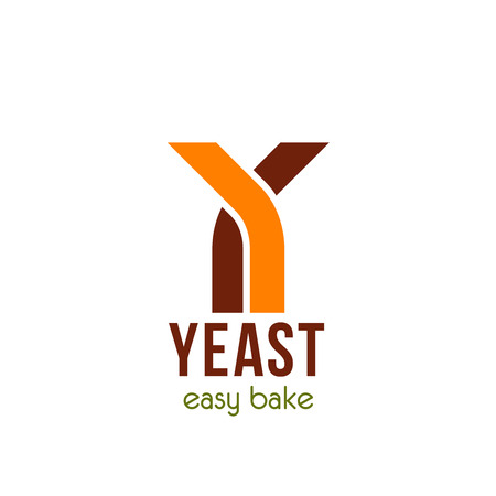 Yeast easy bake vector icon. Creative sign for organic yeast product. Concept of homemade bakery like bread or sweets. Ingredient for dough, baking concept. Emblem isolated on white background
