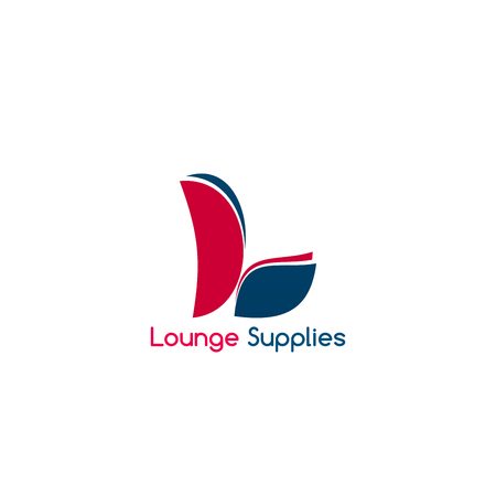 Lounge supplies vector icon isolated on white background. Hookah lounge supplies or chair garden objects for cafe or restaurant. Concept of summertime recreation or beach summer accessories