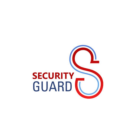 S letter icon for security standard company or digital and internet web engineering. Vector isolated letter S for internet innovation technology or security surveillance and guarding service Illustration