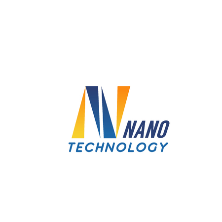Nano technology N letter icon for digital and web engineering company. Vector isolated letter N for innovation nano industry and computer communication and multimedia nanotechnology production Illustration