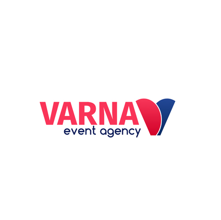 Varna event agency vector icon isolated on a white background. Concept of organization of holidays and parties. Concept of catering service agency and marketing agency Illustration