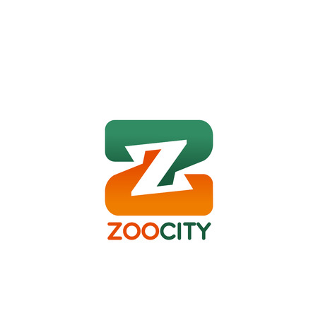 Zoo city letter Z icon for public animal park or pet store and veterinary clinic design. Vector isolated letter Z symbol for zoology petting zoo park or domestic pets zoological shop