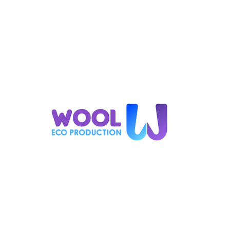 Wool eco production vector icon isolated on a white background. Creative vector design for cotton and wool clothes manufacturing. Colorful label firms engaged in production of goods and of yarn wool. 向量圖像