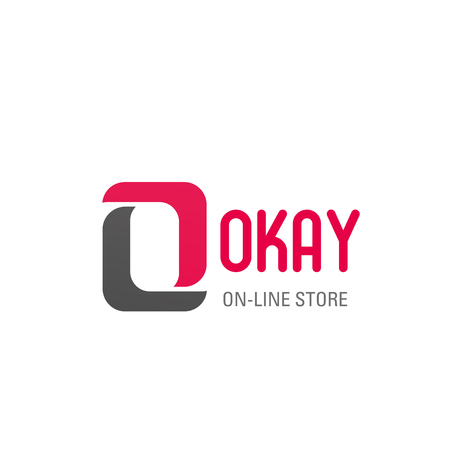 Okay letter O icon for online store and internet shopping. Vector symbol of letter O for online shop retail trading or internet supermarket for fashion clothes web store or market