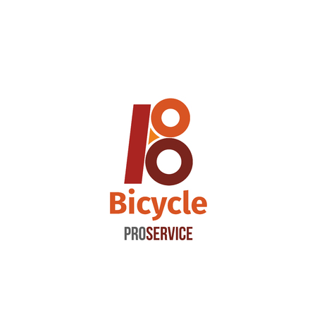 Letter B icon for bicycle professional service or sport bike store and extreme leisure equipment shop. Vector bicycle wheels symbol of letter B for bike transport service center and rental company