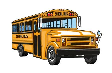 Caricature d'autobus scolaire.