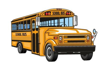 School bus cartoon. Banque d'images - 121246093