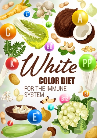 White food of color diet food