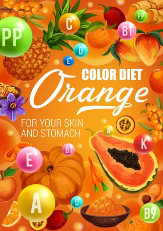 Color diet healthy food ingredients