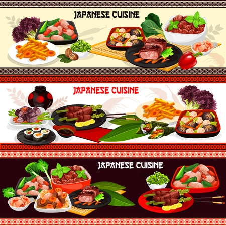 Japanese meat dishes of asian cuisine.