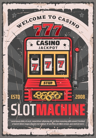 Casino poker slot machine or one-armed bandit poker.