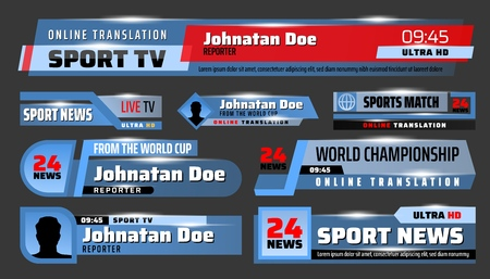 Sport TV translation backdrops and header title bar boxes.