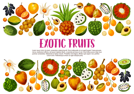 Exotic fruits harvest