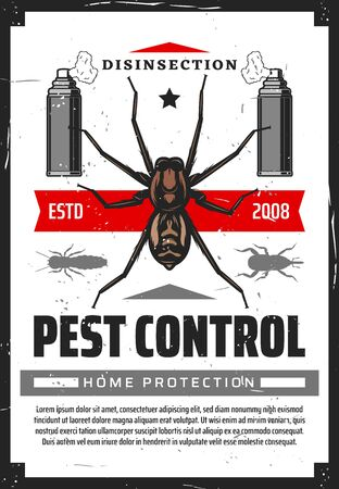 Pest control disensection and protection, sprayers and insects. Vector fumigation , extermination of cockroach, mosquitoes, termites. Spraying container with toxic insecticide spray