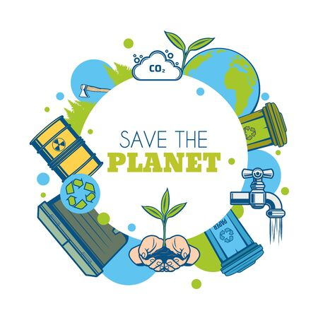 Ecology and environment protection vector icon. Illustration