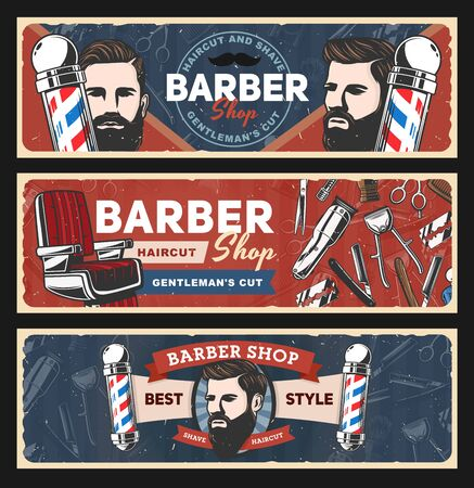 Barbershop vector design of barber shop and hair salon.